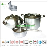 3 Layer Composite Body stainless steel hotel cookware