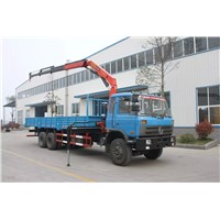 Dongfeng 6x4 truck with 10tons crane for sale