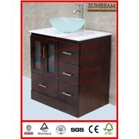 wooden espresso freestanding bathroom vanity/bathroom cabinet/bathroom furniture