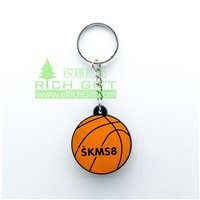 Customized 3D PVC Cartoon Keychain for Football