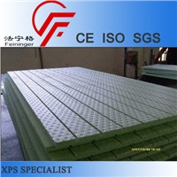 Embossing and slotting xps panel, xps floor heating panel