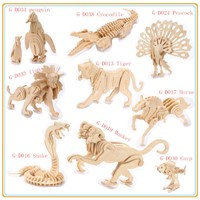 Hot sale 3d  wooden puzzle animal toy-horse
