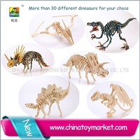 Hot selling wooden puzzle toy -dinosaur model