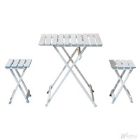 Aluminum picnic table chair set