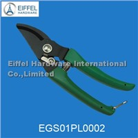 Garden pruner- PP handle + iron with electrophoretic processing (black color )EGS01PL0002