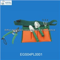Four pcs garden tool set in nylon bag ( garden pruner , big and small shovel,rake ) EGS04PL0001