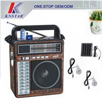 FP-1363RLS Portable solar radio with mp3 player and torch light