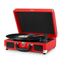 New arrival Portable usb suitcase turntable player with MP3 player