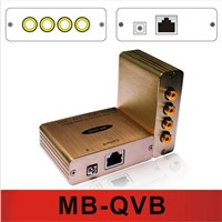 The Quad Video Balun transmitted by Cat5e/6(MB-QVB)