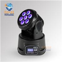 Rasha Factory Price 7pcs*10W High Brightness MINI LED Moving Head Wash With LCD Display,12CH