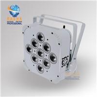 White Case 9*15W RGBAW 5IN1 Wireless & Battery Power Light,Slim Par Light, Stage  Light