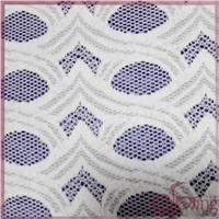 Wihte braided lace fabric