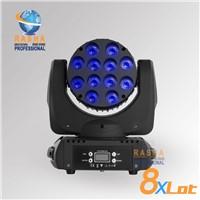 Rasha High Quality 12pcs*10W 4IN1 Cree LED Moving Head Beam Light With Powercon