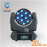 Rasha High Quality 36pcs*3W Cree RGBW LED Moving Head Beam With LCD Display,Powercon 110-240V