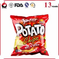 plastic potato chips packaging bag