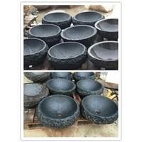 Absolute Black Granite Sink,Black Granite Vessel Sink,Stone Wash Basin