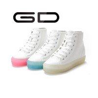 Fluorescent shoes without LED light for dancing and jumping