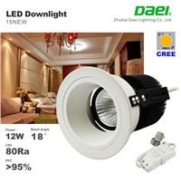 12w led downlights 1050lm 18degree