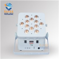 Rasha High Brightness 12pcs*18W RGBAW+UV 6in1 Battery Powered Wireless Freedom LED Par Can,110-240V