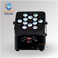 NEW Arrival 12pcs*18W 6in1 RGBAW+UV Battery Powerered Wireless LED Slim Par Can,ADJ LED Par Light