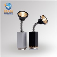 New Arrival 10W Zoom Warmwhite Battery Powered LED Pinspot Light with Magnetic, LED Flashlight with IR Remote Control