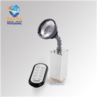 Rasha Hot Sale 10W ZOOM Warmwhite Battery Powered LED Pinspot Light with IR Remote Control LED Flashlight