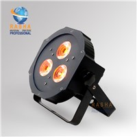 New Ultra Bright Flat RGBAW Par 38 Wash Fixture with 3ps*15w RGBAW-Tint-5- 5-In-1(RGBAW) Leds