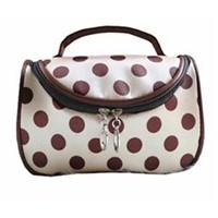 Fashion Polyester dots Cosmetic Bags Women Handbags Makeup Storage Bag