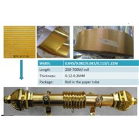 Golden papers for coating on the curtain poles