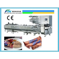 High Speed Automatic Pillow Packing Machine for cereal bar and chocolate enrobing product