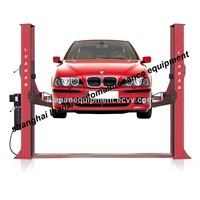 two post one side manual release car lift