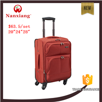 "2015 fashion soft Nylon luggage 20052#20""24""28""/set"