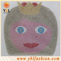 Little girl hotfix rhinestone motif for kids clothing