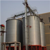 Galvanized wheat grain hopper bottom steel silo