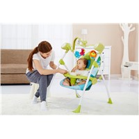 2-in-1 folding electric swing chair