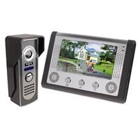 7 Inch Video Door Phone Doorbell Intercom Kit 1-camera 1-monitor