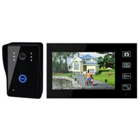 7inch Wireless Door Phone Doorbell Intercom With Touch Key Camera