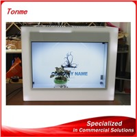 transparent LCD display box for advertising, transparent showcase for  display.epaper display