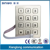 3x4 12 keys single door access control keypad|digital keypad safe lock