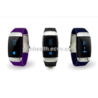 Bluetooth Silicone Wristband with Heart Rate Monitor 3D Pedometers