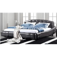 2014Cozylast fashion modern style simply bedroom furniture leather bed made in china