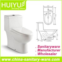 Ceramic One-Piece Washdown S-Trap Sanitary Ware