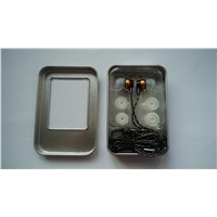 3.5mm universal golden head in-ear headphone for cell phone iPhone Samsung HTC Huawei LG SONY