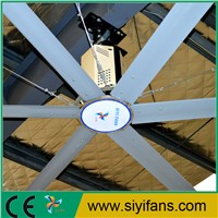 12ft Big Electric Aluminum Alloy Blade Ceiling Fan With Speed Regulator