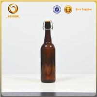 750ml empty cheap fany wholesale beer glass bottles with swing top
