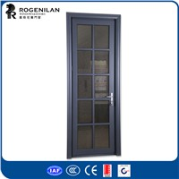 Rogenilan powder coated aluminum hinge door aluminum frame glass door