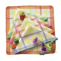 Absorbent non-terry kitchen cleaning tea towel sets