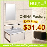Cabinet with glass basin/high gloss bathroom basin cabinet/hanging bathroom cabinets