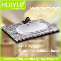 Bathroom furniture ceramic cabinet basin(Feather edge basin)