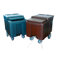 112Litre Roll Ice Caddy with Slide Lid for Hotels